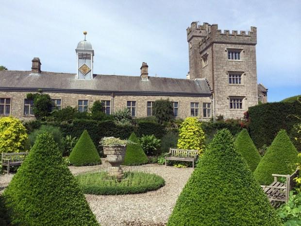 Formal garden with topiary cones