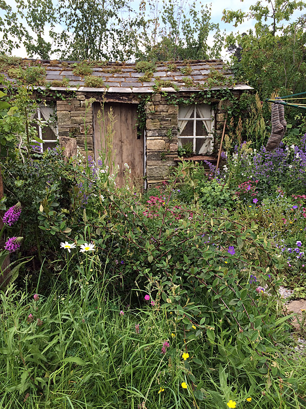 Stone house with cottage garden