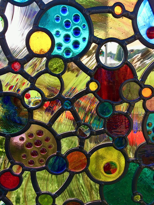 Colourful art glass panel