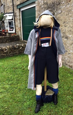 A scarecrow of the first female Doctor Who