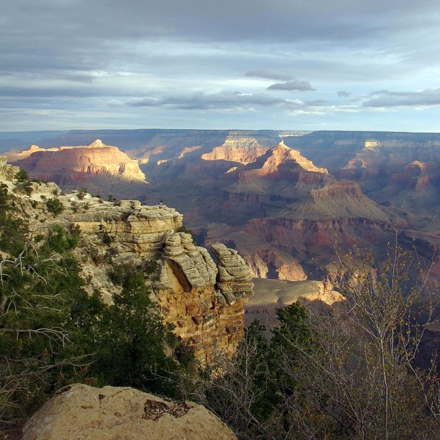 Looking out over the Grand Canyon