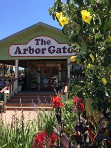The Arbor Gate shop with flowers