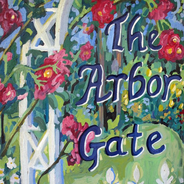 The Arbor Gate garden center sign