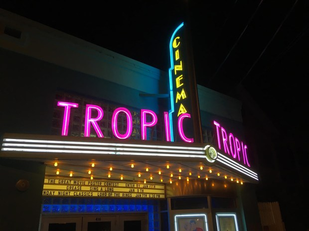 Key West Tropic Cinema neon sign