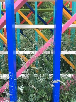 Anatomy of Colour sculpture, looking through the framework