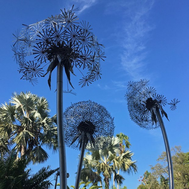 Dandelion Sculptures at the Fairchild Botanical Garden
