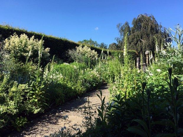 The white garden at York Gate Garden