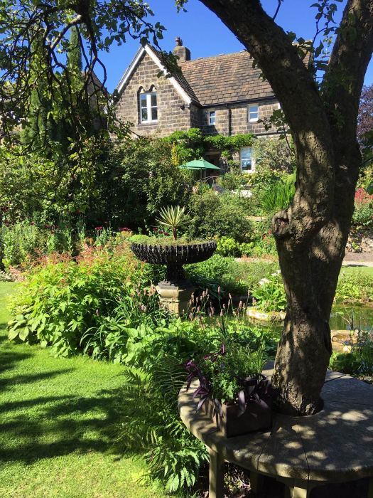 View of York Gate Garden looking towards the house