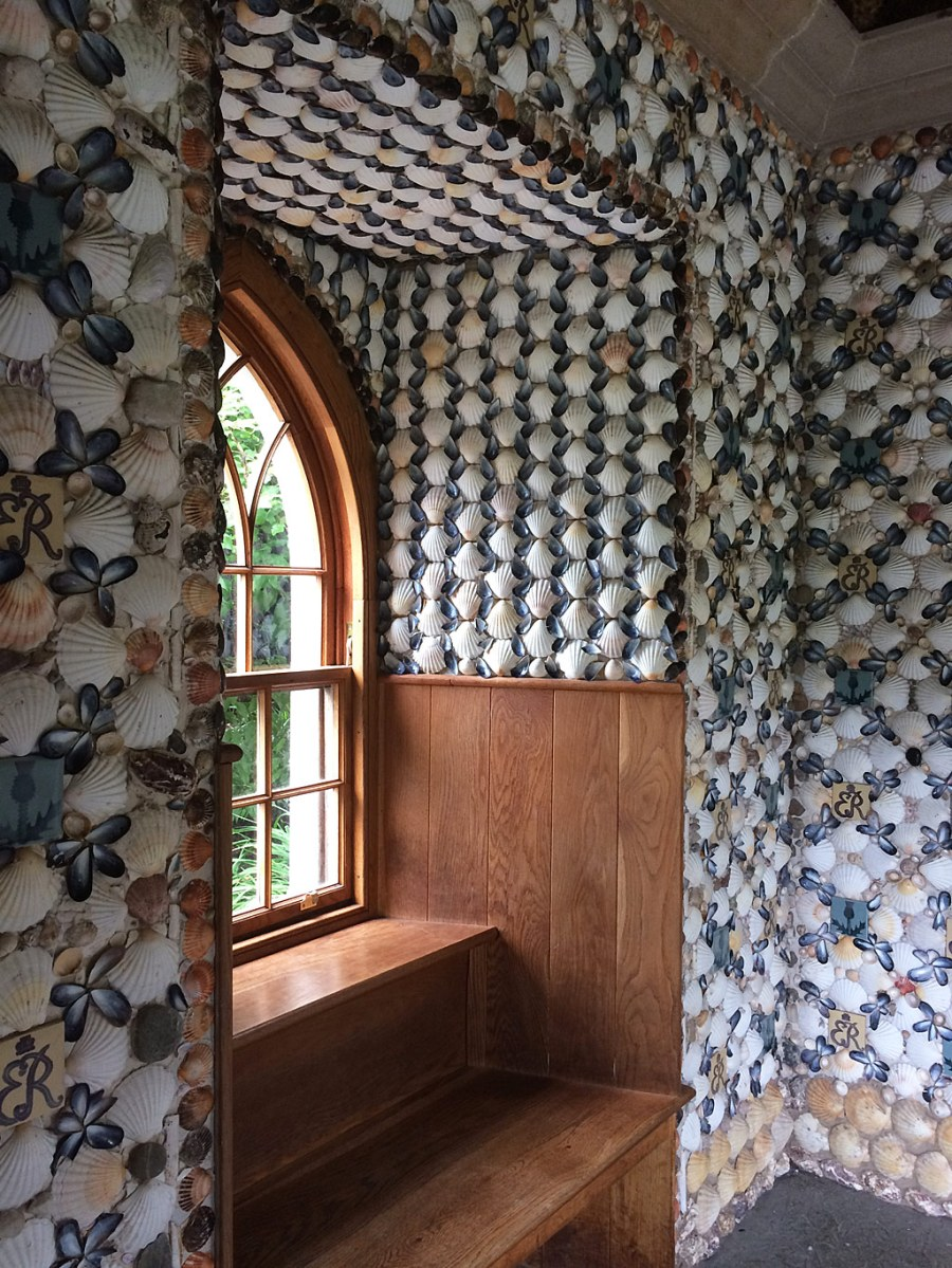 Inside the shell house grotto at the Edinburgh Botanic Garden