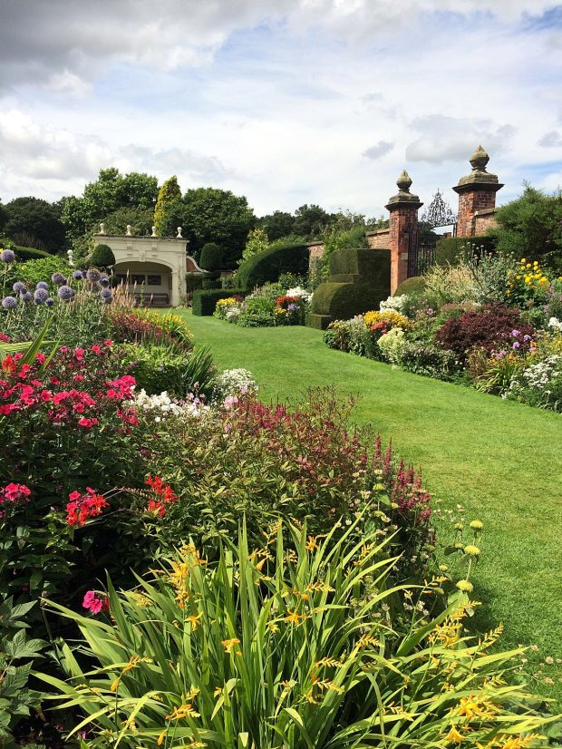 Arley Hall's double herbaceous borders in full bloom