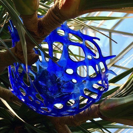 Blue art glass by Craig Mitchell Smith