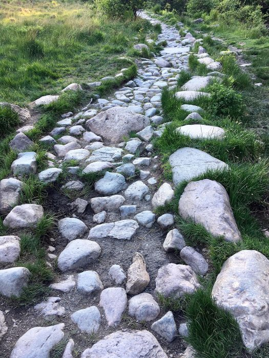Natural stone path in the English Lake Districtstones