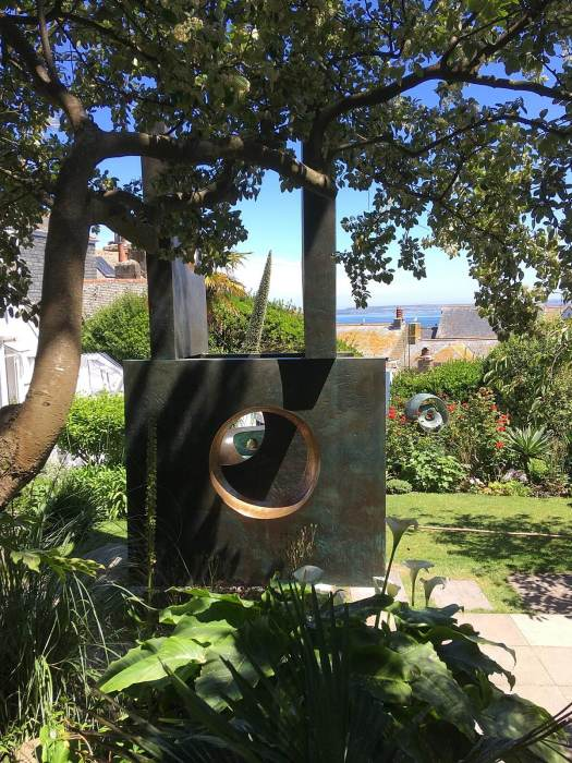 Four-Square by Barbara Hepworth in her coastal garden