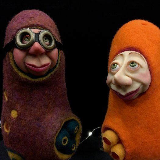 Felt art - Pod people, by Debie Deaton