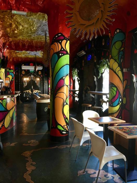 The colourful interior of Barcelona Bar Liverpool