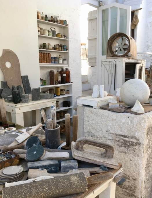 Barbara Hepworth's St Ives studio with tools