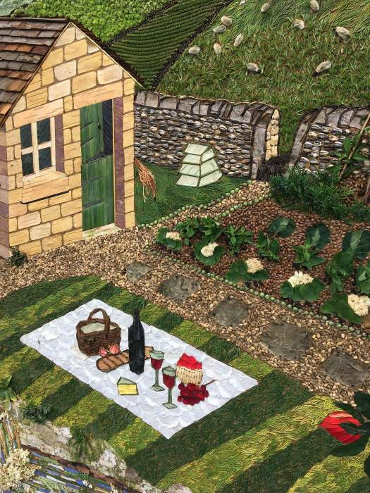 Tideswell well dressing: a picnic in a vegetable garden