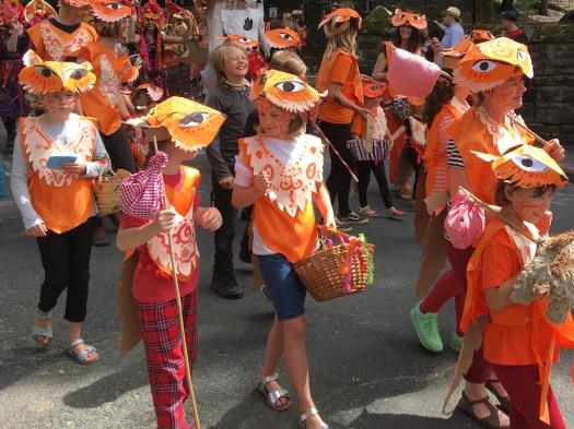 Kids at the Handmade Parade, Hebden Bridge