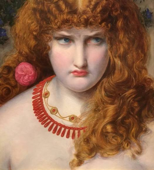 Helen of Troy with curly red hair by Sandys