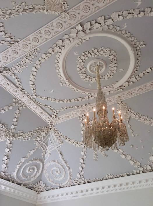 Botanical plasterwork ceiling at Jupiter Artland