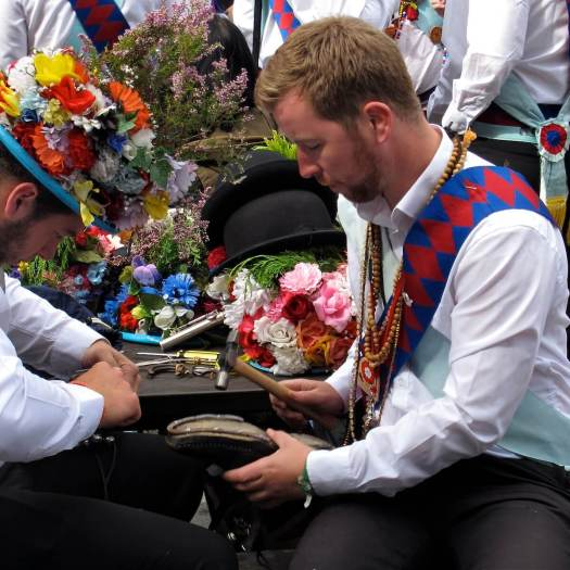 Morris dancers nail irons to soles and heels