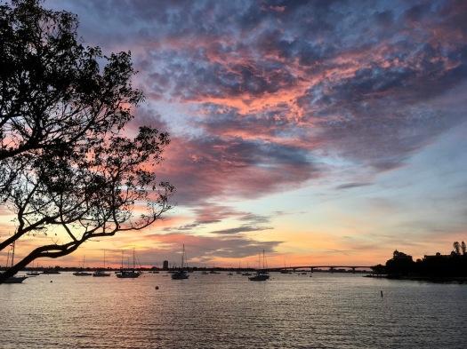 Sunset view of Sarasota Bay