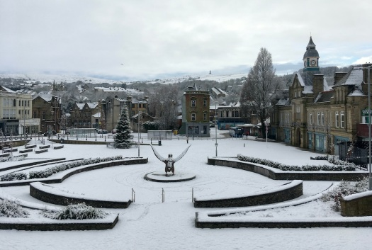 Darwen in the snow