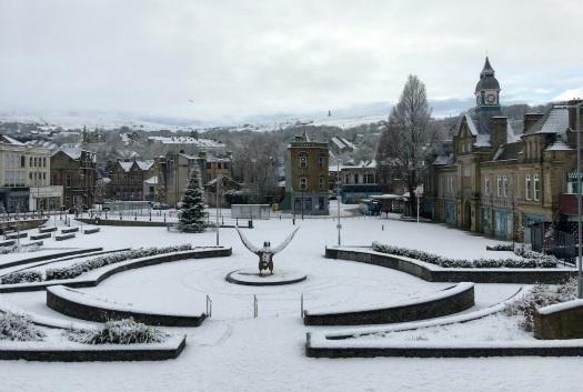 Darwen in the snow
