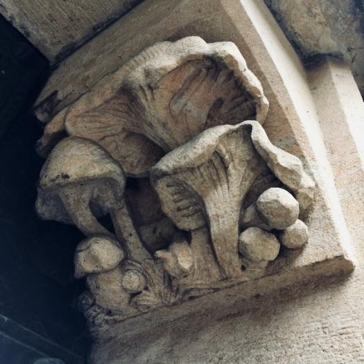 Mushroom carving in Prague