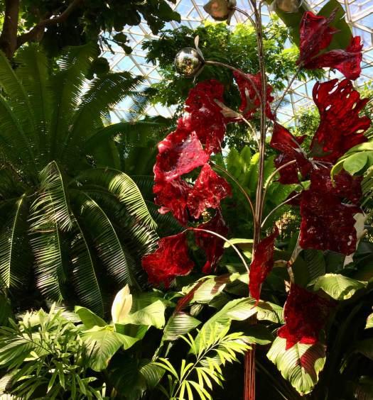 Crepe Myrtle - red art glass