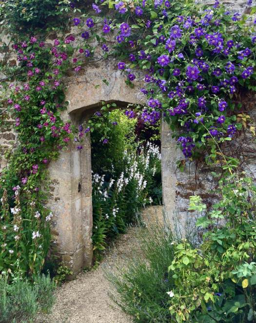 Rousham doorway with clematis