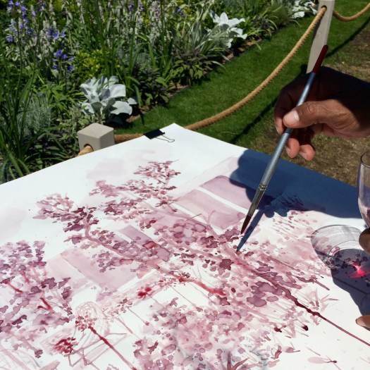 Red wine used as ink