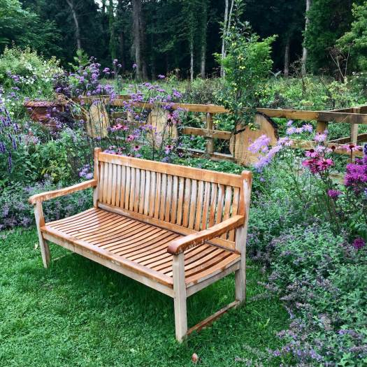 Bench in Howick Hall's sensory garden
