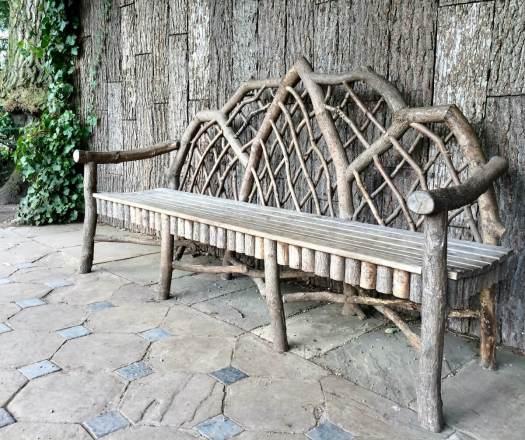 Rustic garden bench at Dunham Massey