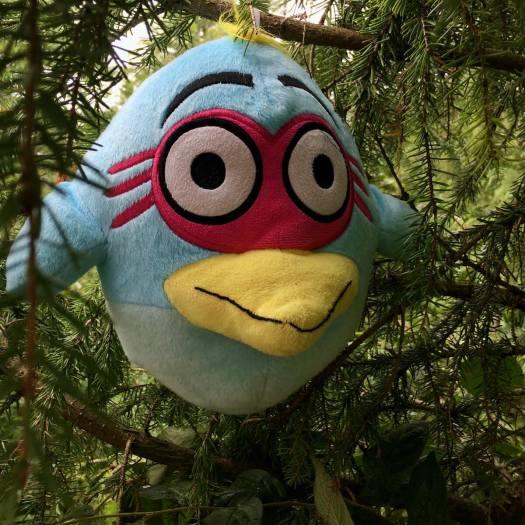 Stuffed toy in a tree