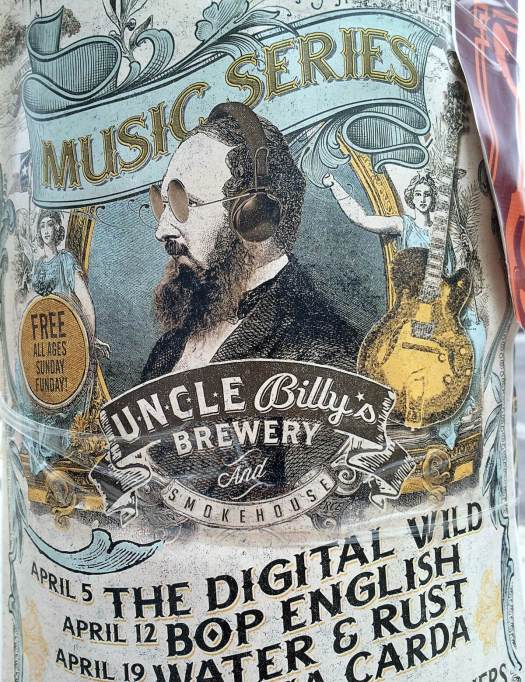 Music series poster for Uncle Billy's Brewery